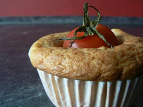 Basilikummuffins mit Fetakäse