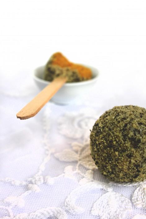 Kürbis-Cake Pops