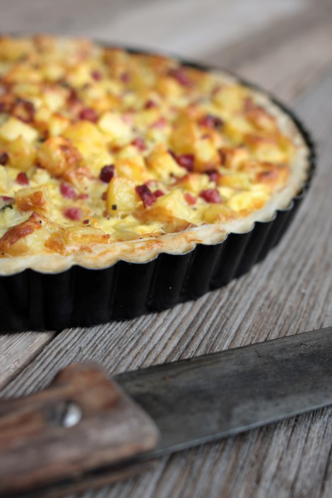 Bratkartoffel-Speck-Tarte